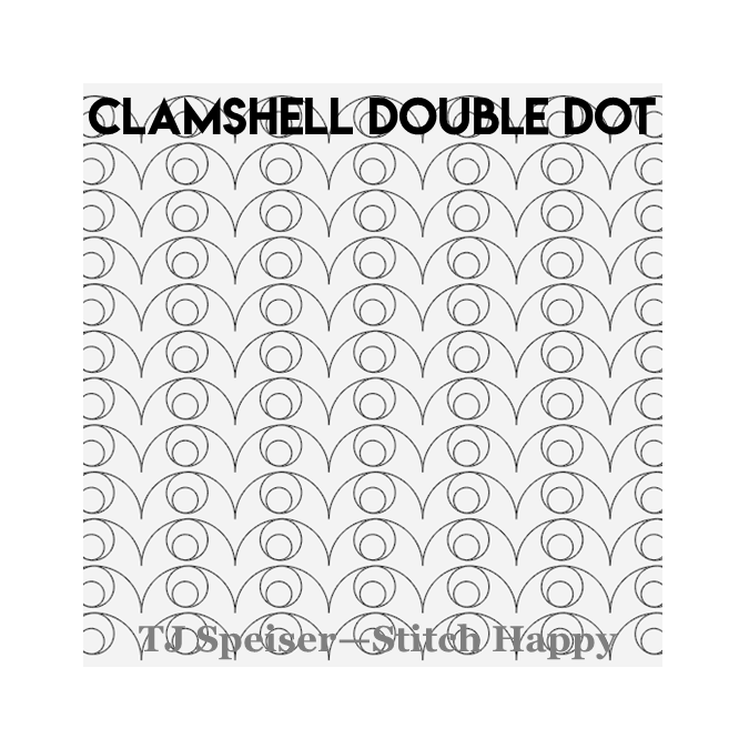 Clamshell Double Dot - Stitch Happy
