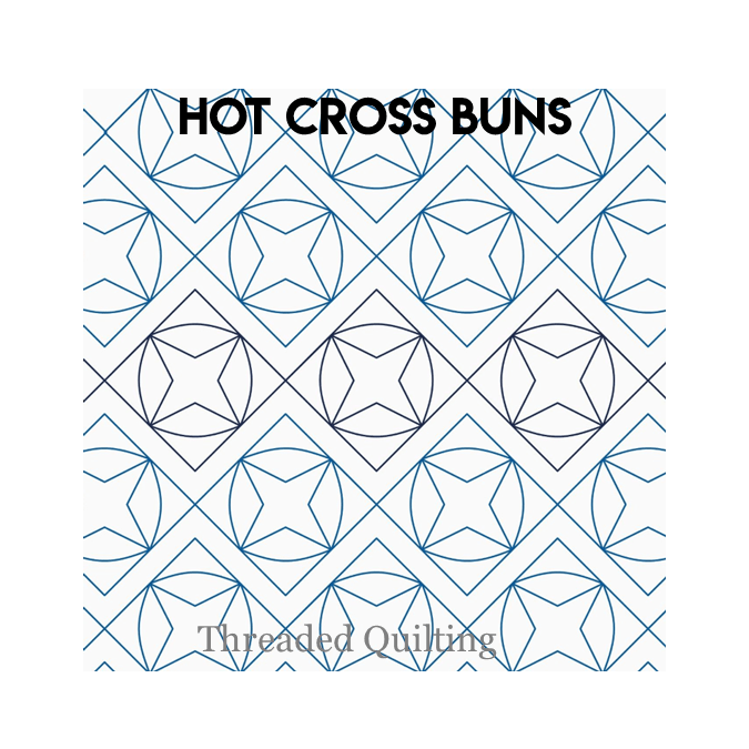 Hot Cross Buns - Threaded Quilting