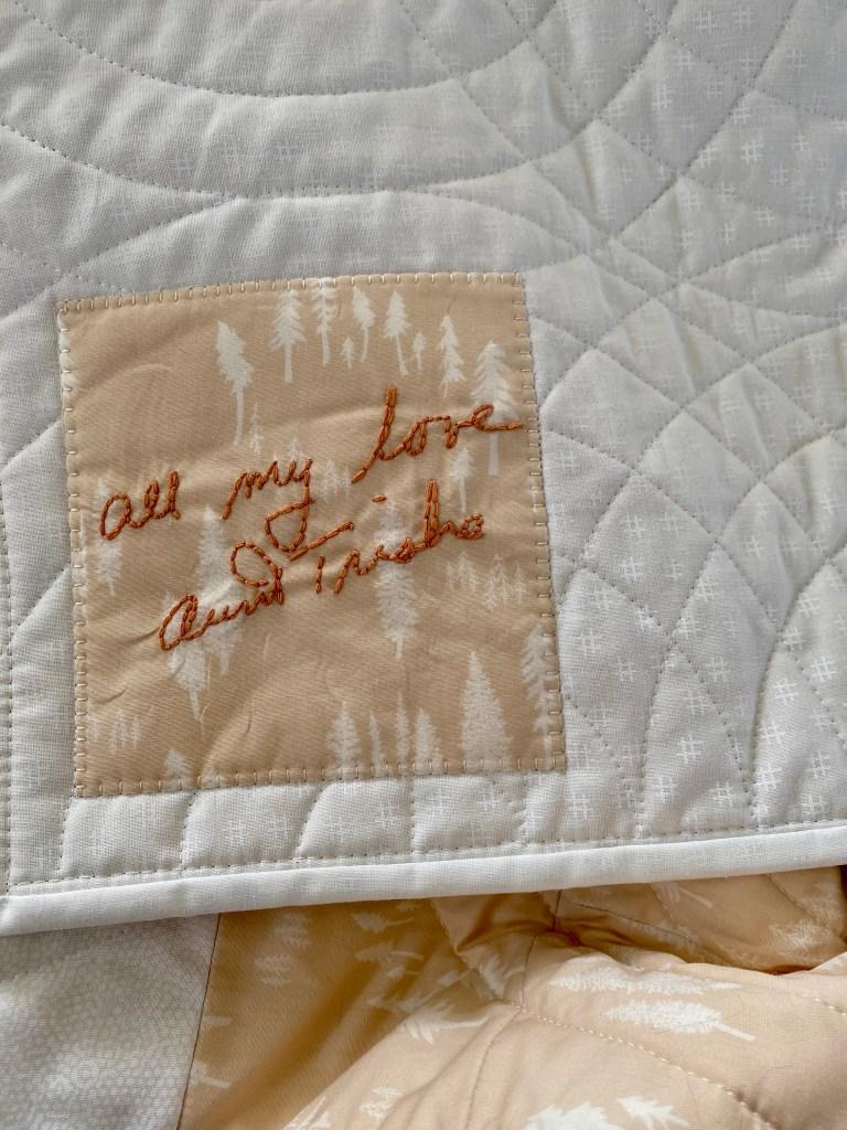 Custom Handwriting Embroidery