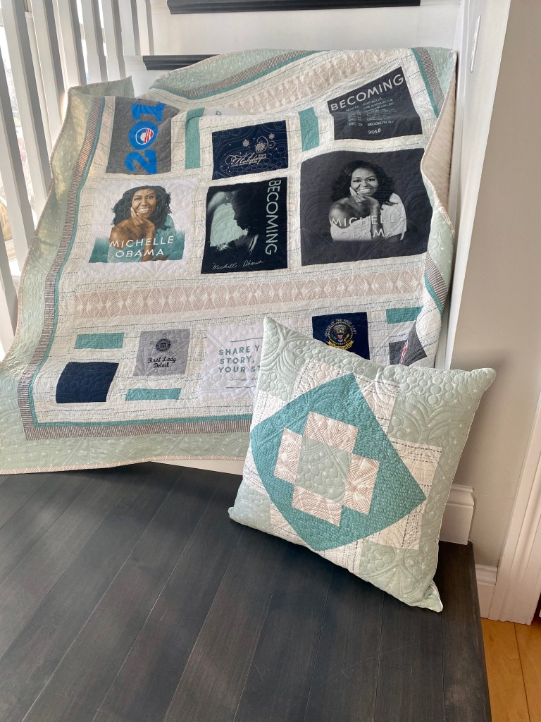 Custom Memory Quilt - Mrs. Michelle Obama Becoming Tour