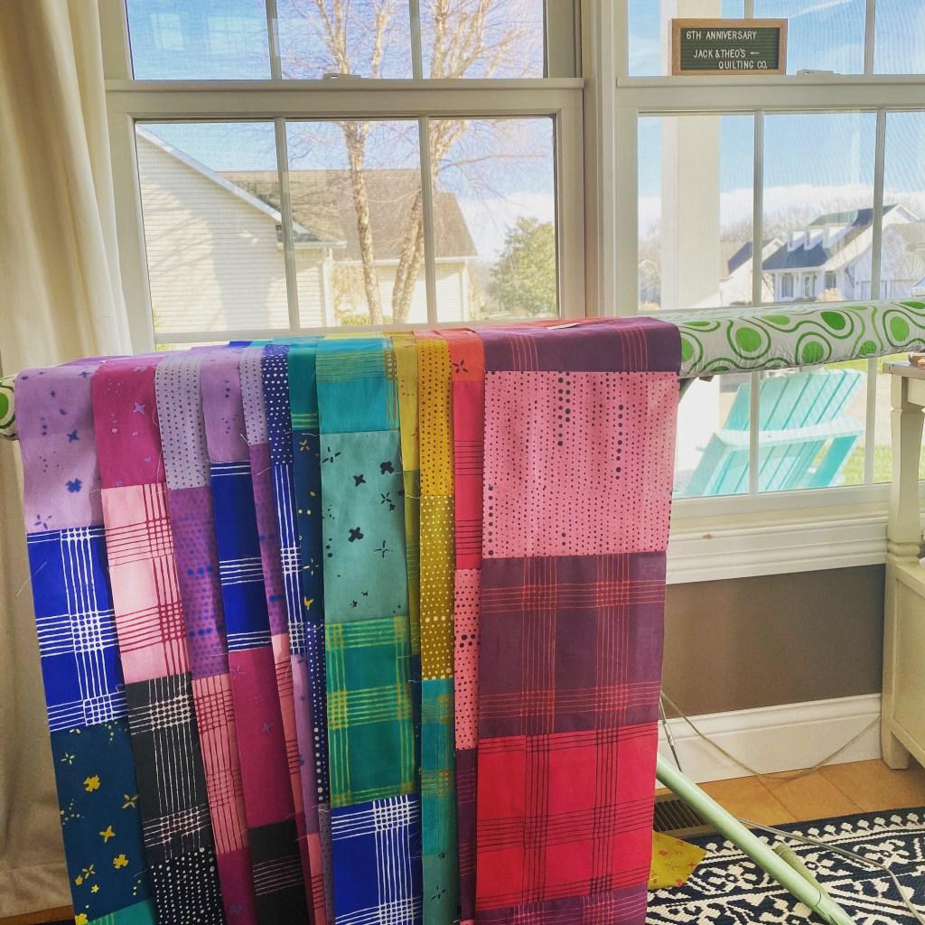 Rainbow Quilt Kit - Alison Glass Chroma Custom Fabric Bundle