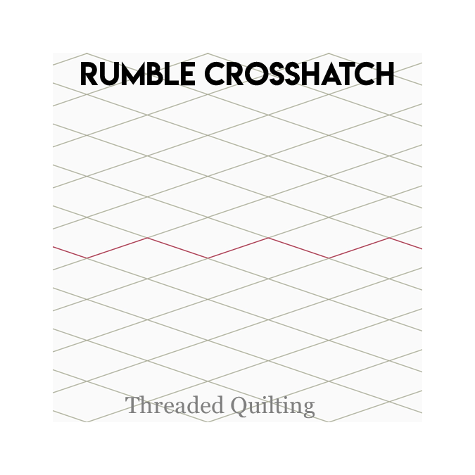 Rumble Crosshatch - Threaded Quilting