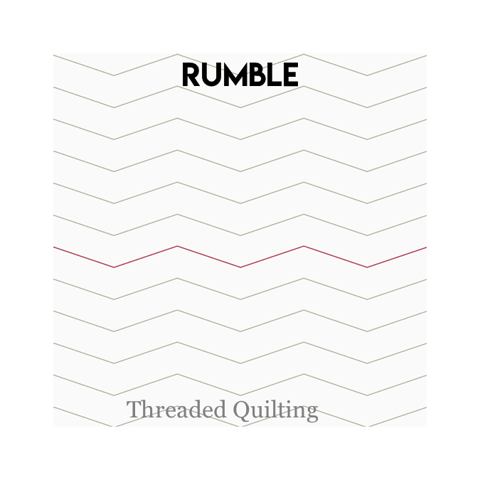 Rumble - Threaded Quilting