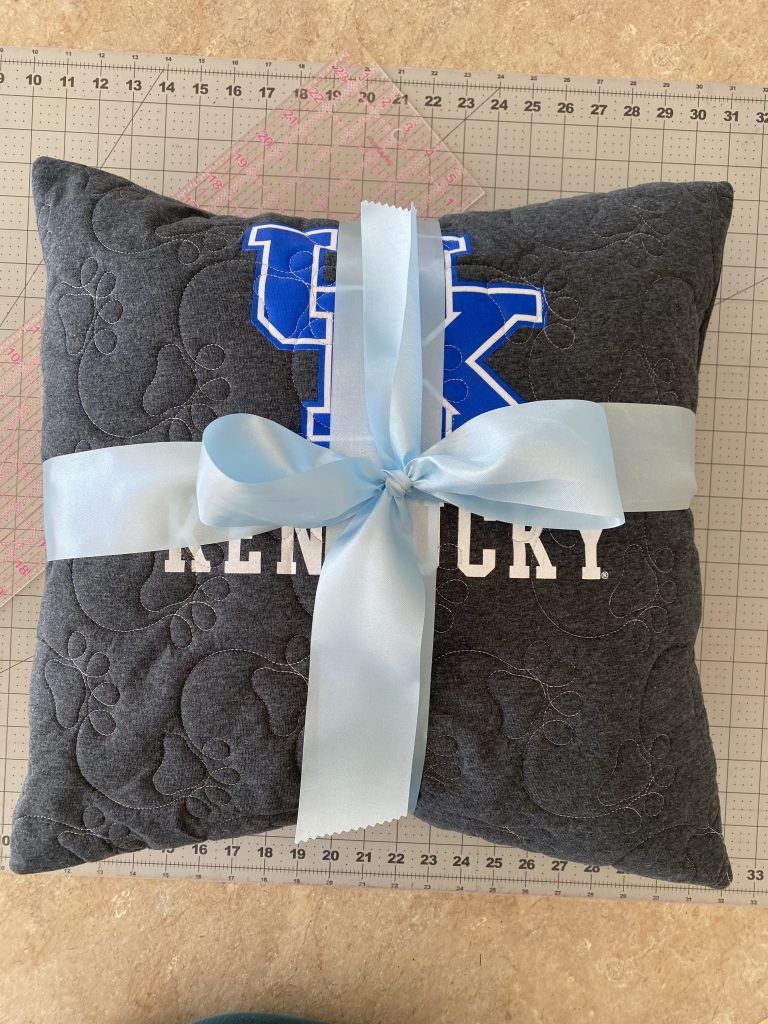 Custom Quilted T-Shirt Memory Pillow