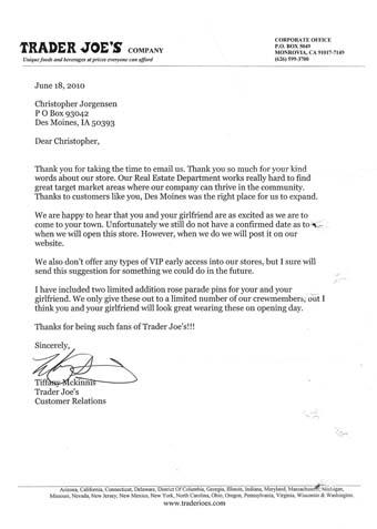 Jackass Letters Dear Trader Joes