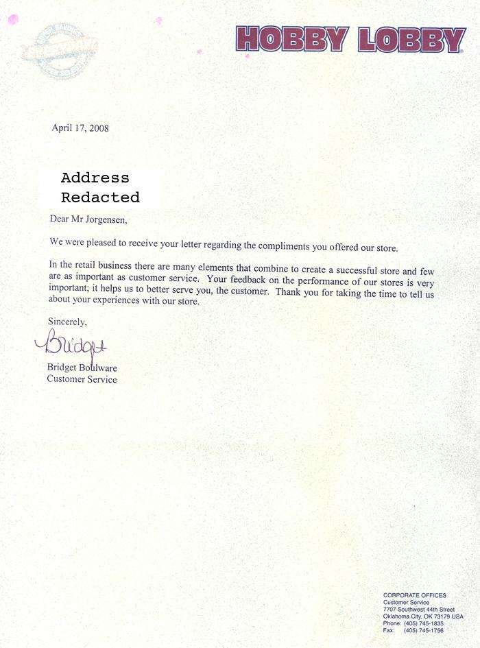 Jackass Letters Dear Hobby Lobby