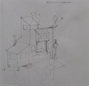 Proposed puppet theater building