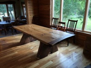 Prairie Creek Table (White Oak and Black Walnut)