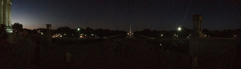 Panorama of the National Mall + Lincoln Memorial-Night