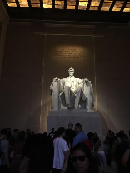 Inside Lincoln Memorial