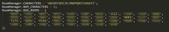 Room [CENSORED] Codes