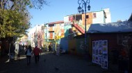 Artists displaying their work in El Caminito