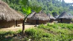 Passing villages of the indigenous people