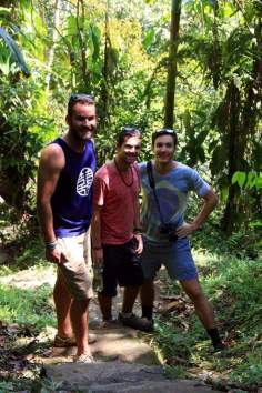 All smiles from me, Cam and David as we reach the top