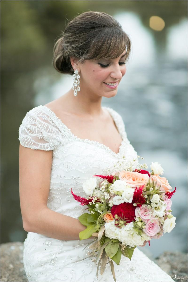 Portrait of bride Leila.