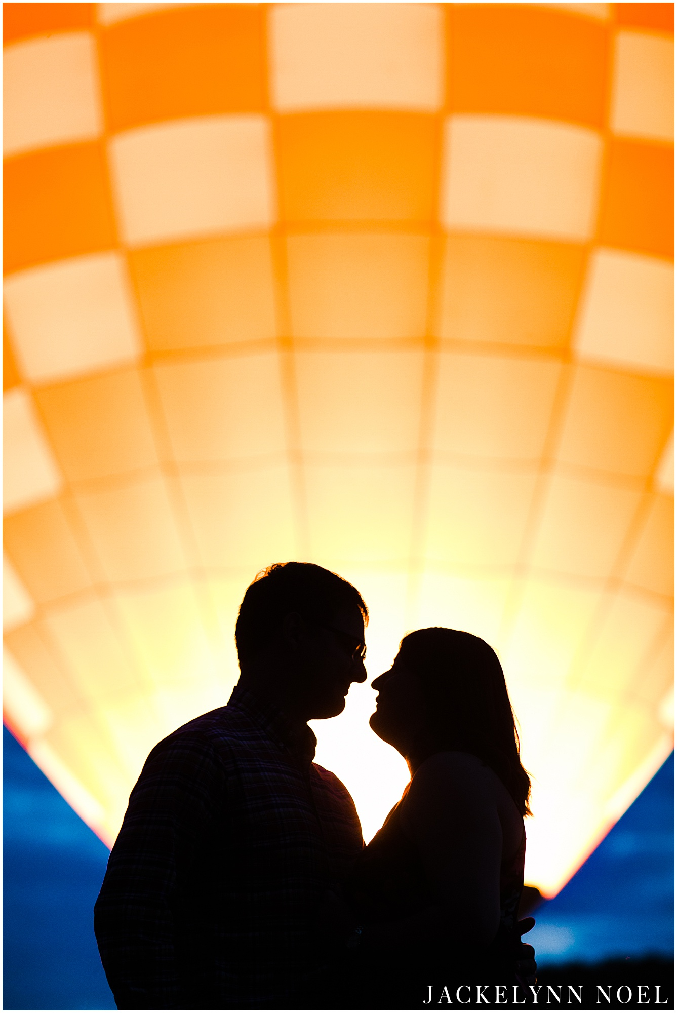 Hot Air Balloon Engagement Session at Brookdale Farms