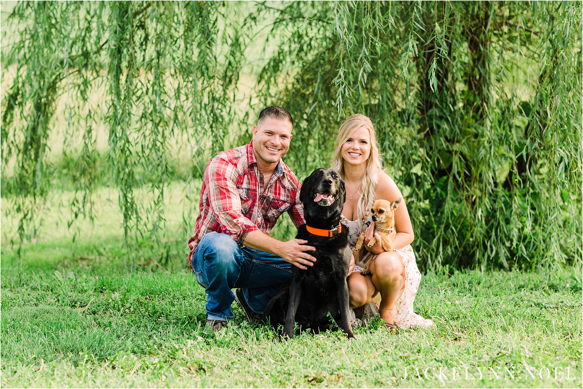Megan and Rob - Hometown Farm Engagement Session in Troy, Illinois by Jackelynn Noel Photography