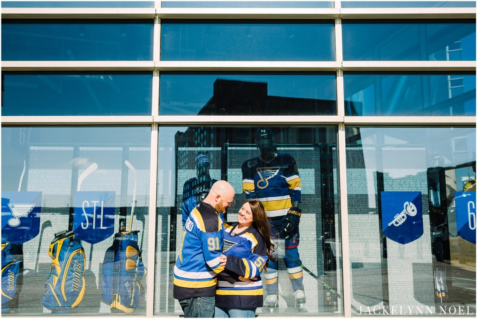 Alicia and Chris's St. Louis Blues Engagement Session