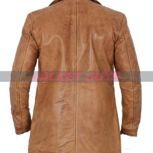 buy now brown leather blazer