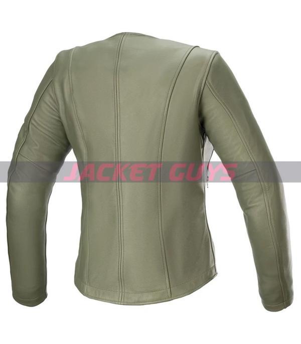 for sale green biker jacket for women