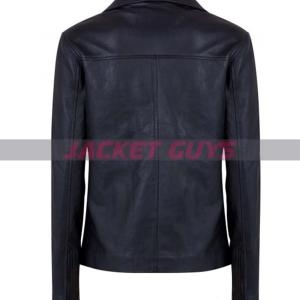for sale womens classic black leather jacket