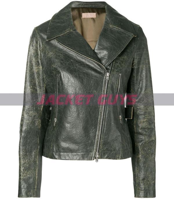 ladies distressed leather jacket buy now
