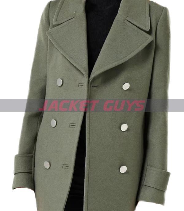 buy now ladies green pea coat on sale