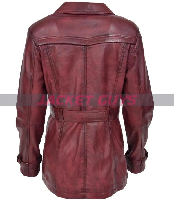 women's leather trench coat shop now