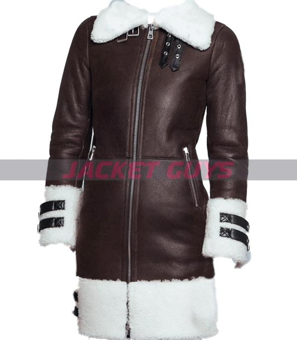 get now gorgeous shearling leather coat