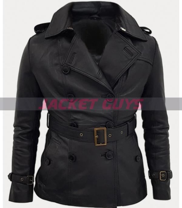 buy now women's trench leather coat