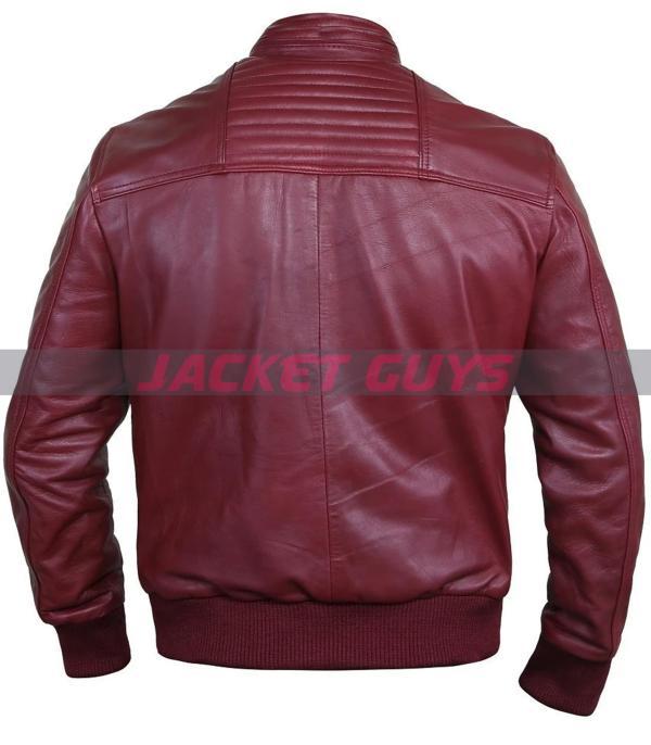 shop now men blood red leather jacket