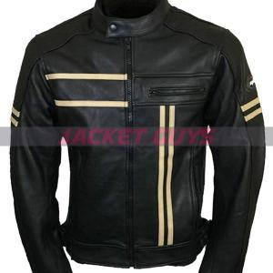 buy now men cafe racer cruiser leather jacket