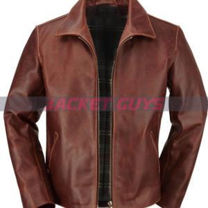 shop now men's brown leather jacket