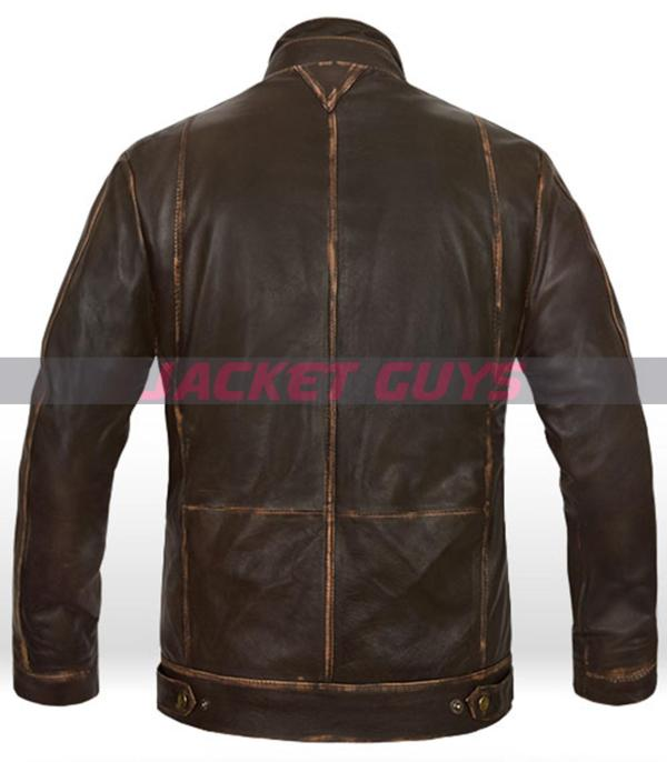for sale rubbed leather jacket