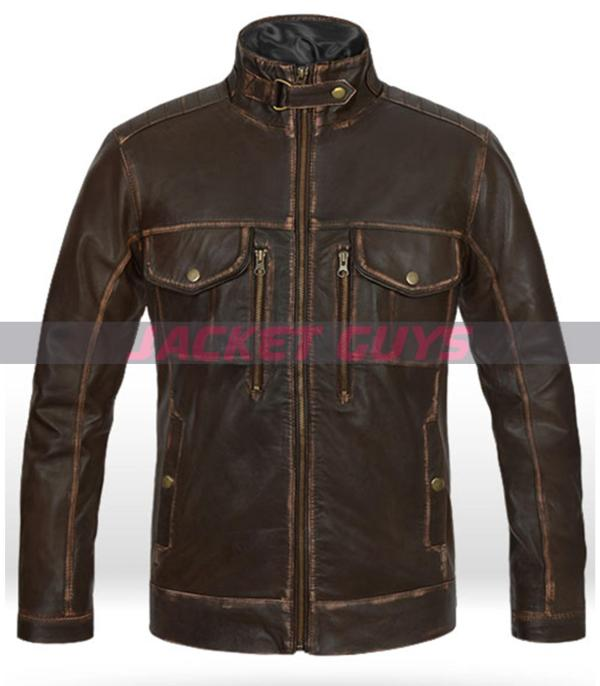 buy now rubbed leather jacket