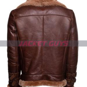 purchase now mens aviator shearling leather jacket