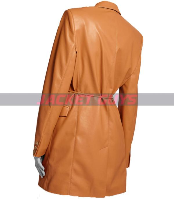shop now now trench leather coat
