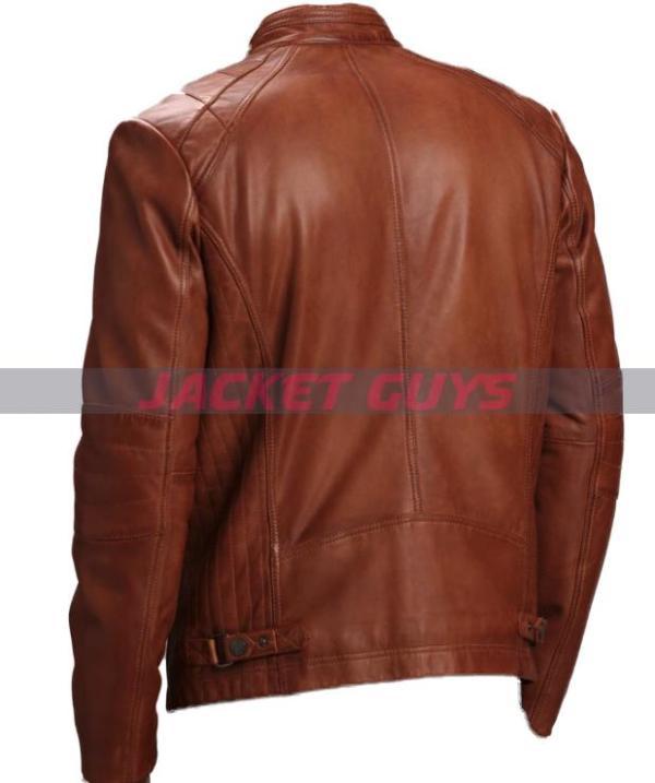 for sale men brown soft leather jacket