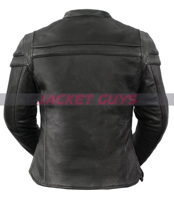 buy now ladies armoured leather jacket