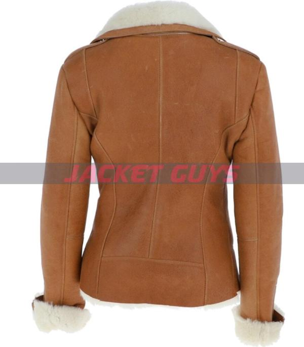 on sale ladies shearling leather jacket