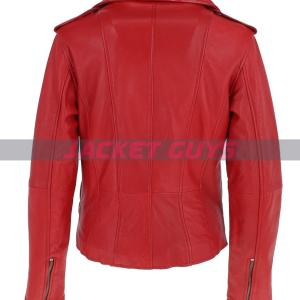 purchase now women red biker leather jacket