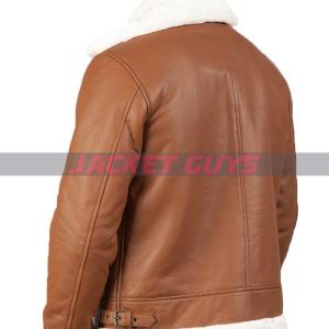 purchase now mens brown shearling leather jacket