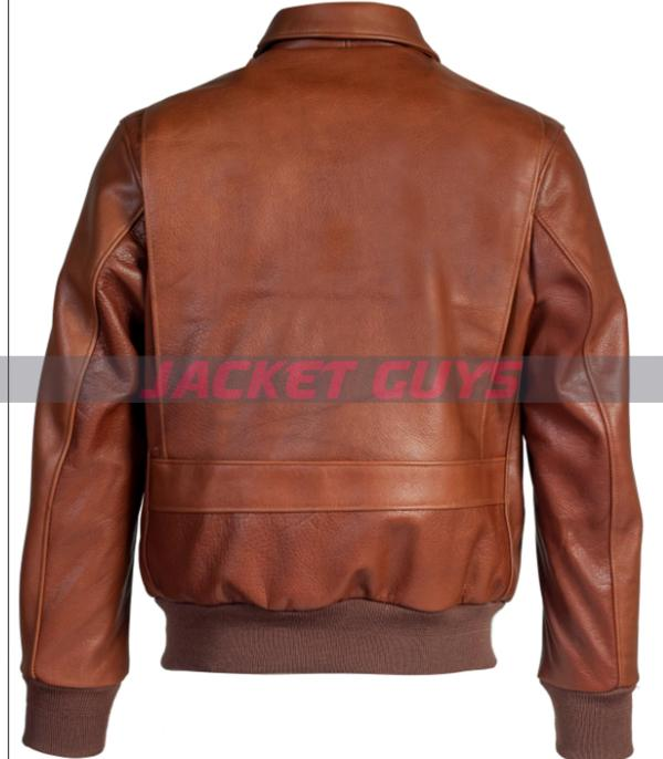 mens lightweight brown leather jacket buy now
