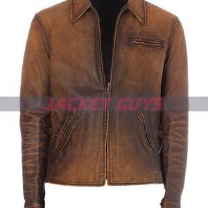 for sale mens american style distress leather jacket