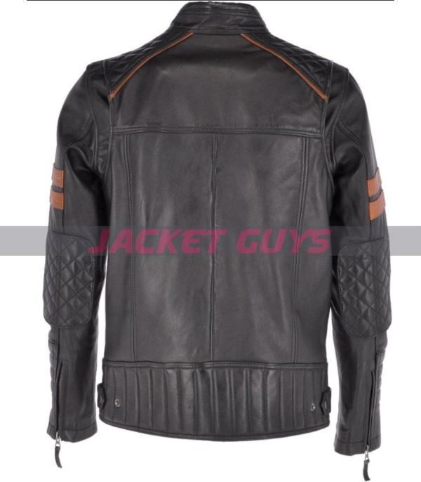purchase now buy now men black leather jacket