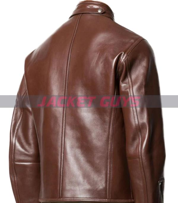 for sale mens brown leather jacket buy now