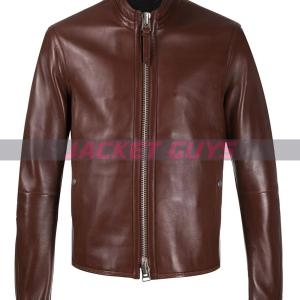 mens brown leather jacket buy now
