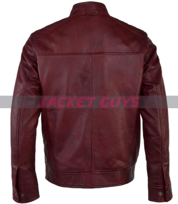 buy now men burgundy leather jacket