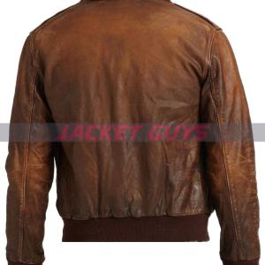 buy now mens brown distressed leather jacket