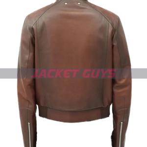 shop now mens brown leather jacket